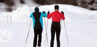 Two Person Skiing