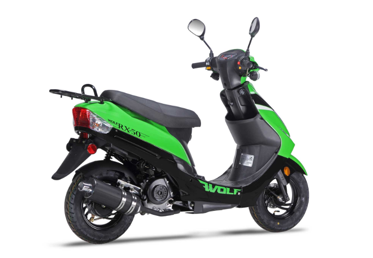 wolf rx 50 scooter green