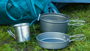Cookware for camping on the grass